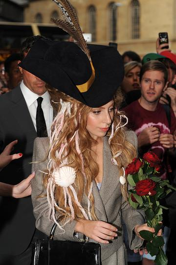 Lady Gaga leaving her hotel in Central London