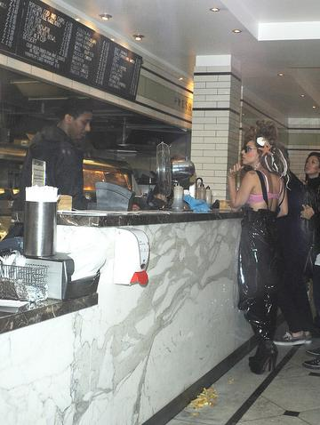 Lady Gaga goes for fish & chips in London