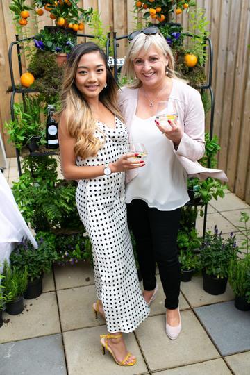 Dee Alfaro and Sinead Pacin at the SuperValu Gin Garden held at Opium Rooftop Garden, Dublin.