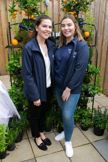 Emma Markey and Grainne McAvinchey pictured at the SuperValu Gin Garden held at Opium Rooftop Garden, Dublin.