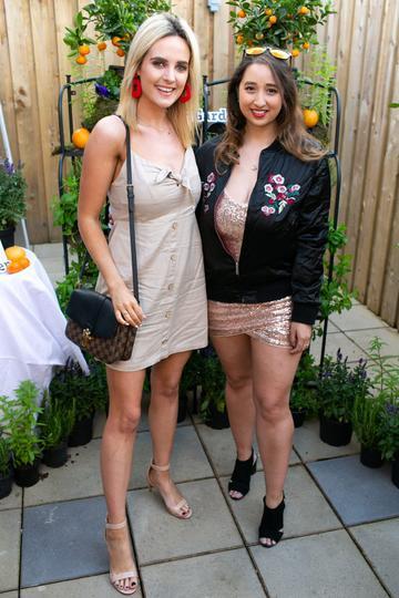 Lorna Duffy and Nirina Plunkett at the SuperValu Gin Garden held at Opium Rooftop Garden, Dublin.
