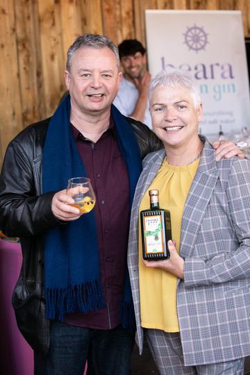 Martin Moran and Brona Conlan pictured at the SuperValu Gin Garden held at Opium Rooftop Garden, Dublin.