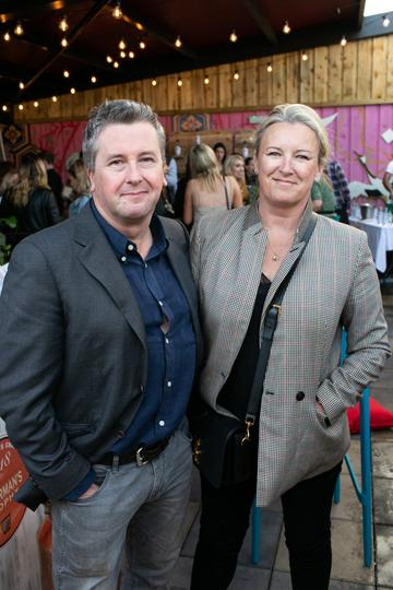 Philip Boucher Hayes and Suzanne Campbell at the SuperValu Gin Garden held at Opium Rooftop Garden, Dublin.