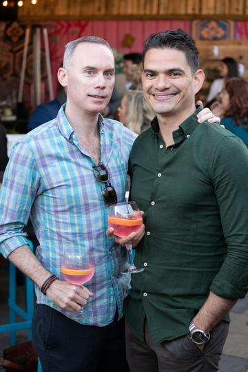 Wayne Cronin and Juan Carlos Léon at the SuperValu Gin Garden held at Opium Rooftop Garden, Dublin.