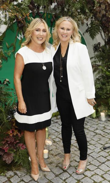 Ali Levins and Tracey Coughlan at the launch of Taste the Island, a 12 week celebration of Ireland's seasonal ingredients, adventurous tastes and bold experiences taking place this September, October and November. Photo: Kieran Harnett