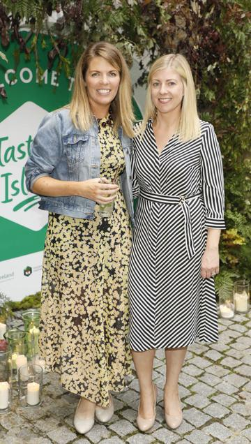 Gemma Flanagan and Fiona Moore at the launch of Taste the Island, a 12 week celebration of Ireland's seasonal ingredients, adventurous tastes and bold experiences taking place this September, October and November. Photo: Kieran Harnett