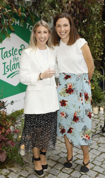 Maria Clabby and Laoise Donnelly at the launch of Taste the Island, a 12 week celebration of Ireland's seasonal ingredients, adventurous tastes and bold experiences taking place this September, October and November. Photo: Kieran Harnett