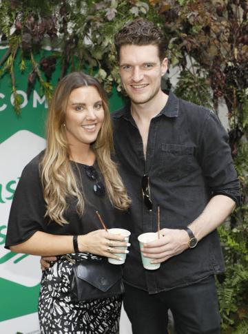 Sarah Hanrahan and Sean McNamee at the launch of Taste the Island, a 12 week celebration of Ireland's seasonal ingredients, adventurous tastes and bold experiences taking place this September, October and November. Photo: Kieran Harnett
