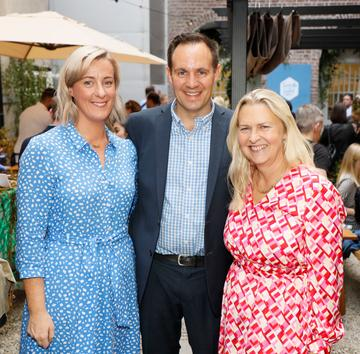 Sinead Hennessy, Jarlath O'Dwyer and Birgitta Curtin at the launch of Taste the Island, a 12 week celebration of Ireland's seasonal ingredients, adventurous tastes and bold experiences taking place this September, October and November. Photo: Kieran Harnett