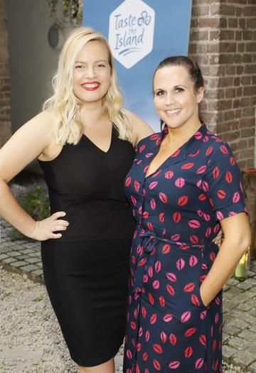 Tara Pobey and Ruth Gleeson at the launch of Taste the Island, a 12 week celebration of Ireland's seasonal ingredients, adventurous tastes and bold experiences taking place this September, October and November. Photo: Kieran Harnett