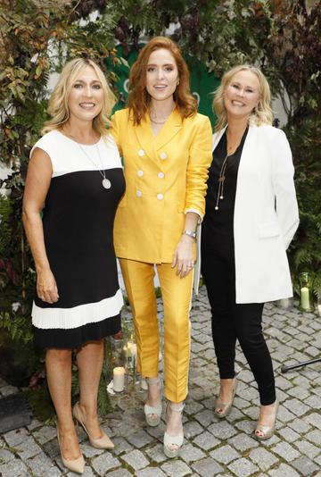Tracey Coughlan, Angela Scanlon and Ali Levins at the launch of Taste the Island, a 12 week celebration of Ireland's seasonal ingredients, adventurous tastes and bold experiences taking place this September, October and November. Photo: Kieran Harnett
