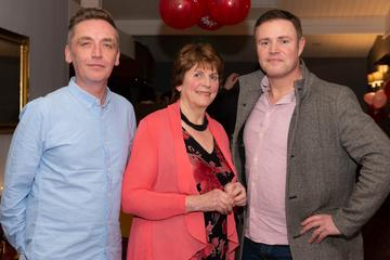 Pól Penrose, Máire Pheter and Seán Misteál pictured at the Valentine's Day Wrap Party of the soap opera Ros na Rún in Park Lodge Hotel, Spiddal.  Photo: Martina Regan.