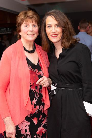 Máire Pheter and Noreen D'Arcy pictured at the Valentine's Day Wrap Party of the soap opera Ros na Rún in Park Lodge Hotel, Spiddal.  Photo: Martina Regan.
