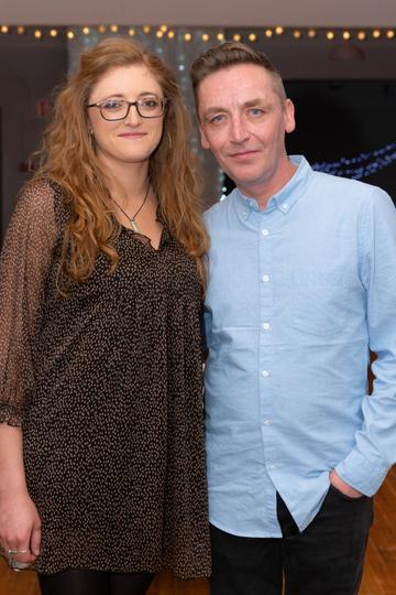 Ailbhe Nic Dhonncha and Pól Penrose pictured at the Valentine's Day Wrap Party of the soap opera Ros na Rún in Park Lodge Hotel, Spiddal.  Photo: Martina Regan.