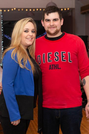 Denise Brady and Aaron Mayhew pictured at the Valentine's Day Wrap Party of the soap opera Ros na Rún in Park Lodge Hotel, Spiddal.  Photo: Martina Regan.