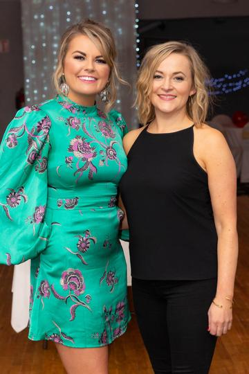 Gráinne Bleasdale and Fiona Fitzpatrick pictured at the Valentine's Day Wrap Party of the soap opera Ros na Rún in Park Lodge Hotel, Spiddal.  Photo: Martina Regan.