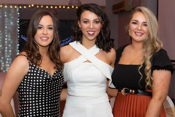 Tracy O'Reilly, Ailbhe Courtney and Siobhan Haverty  pictured at the Valentine's Day Wrap Party of the soap opera Ros na Rún in Park Lodge Hotel, Spiddal.  Photo: Martina Regan.