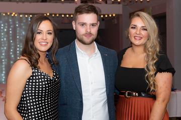 Tracy O'Reilly, Damien Gordon and Siobhan Haverty  pictured at the Valentine's Day Wrap Party of the soap opera Ros na Rún in Park Lodge Hotel, Spiddal.  Photo: Martina Regan.