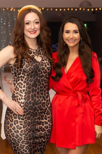 Mairín De Buitléir and Brídín Ní Mhaoldomhnaigh pictured at the Valentine's Day Wrap Party of the soap opera Ros na Rún in Park Lodge Hotel, Spiddal.  Photo: Martina Regan.