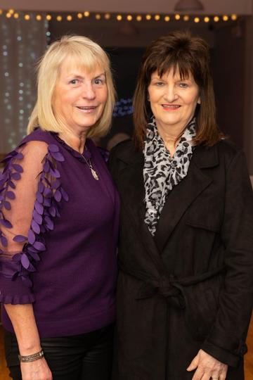 Pauline Waldron and Ann Faherty pictured at the Valentine's Day Wrap Party of the soap opera Ros na Rún in Park Lodge Hotel, Spiddal.  Photo: Martina Regan.