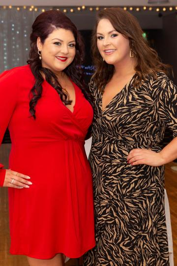 Máire Catriona Ní Dhonnacha and Anna Nic Dhonnacha pictured at the Valentine's Day Wrap Party of the soap opera Ros na Rún in Park Lodge Hotel, Spiddal.  Photo: Martina Regan.