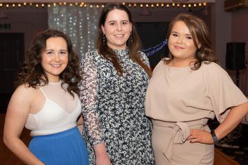 Katie Ní Loingsigh, Helena Ní Chatháin and Sarah Ní Chualáin pictured at the Valentine's Day Wrap Party of the soap opera Ros na Rún in Park Lodge Hotel, Spiddal.  Photo: Martina Regan.