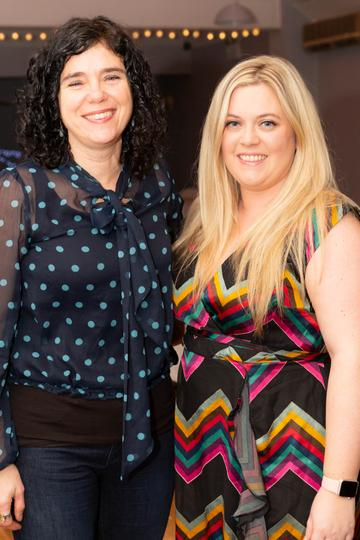 Michelle Conway and Louise Richardson pictured at the Valentine's Day Wrap Party of the soap opera Ros na Rún in Park Lodge Hotel, Spiddal.  Photo: Martina Regan.