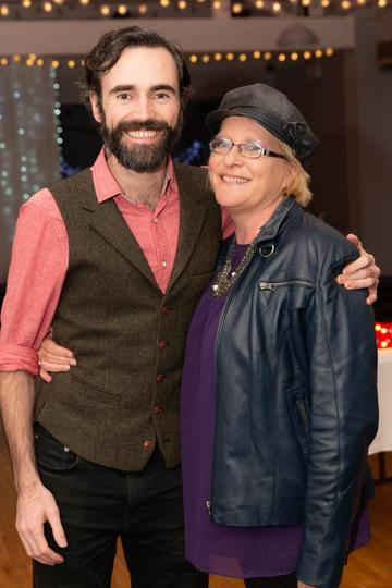Sean O'Meallaigh and Kate Ní Fhlatharta pictured at the Valentine's Day Wrap Party of the soap opera Ros na Rún in Park Lodge Hotel, Spiddal.  Photo: Martina Regan.