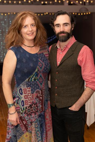 Eimear Ní Choisdbarbha and Sean O'Meallaigh pictured at the Valentine's Day Wrap Party of the soap opera Ros na Rún in Park Lodge Hotel, Spiddal.  Photo: Martina Regan.
