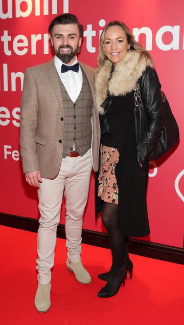 Matthew Toman and Aine McConaghy at the Virgin Media Dublin International Film Festival Irish Premiere screening of Street Leagues at Cineworld Dublin. Pic: Brian McEvoy Photography