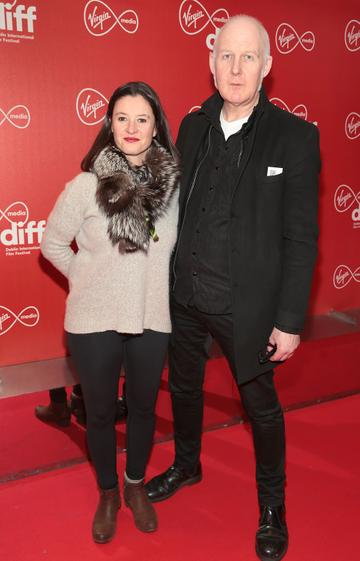 Anna Maria Barry and John Fleming at the Virgin Media Dublin International Film Festival Irish Premiere of Innocent Boy at the Lighthouse Cinema, Dublin. Pic: Brian McEvoy.