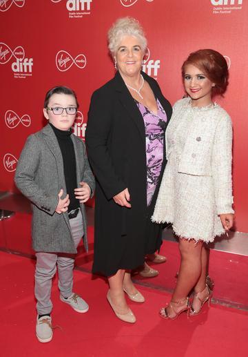 Martin O Leary, Joanne O Leary and Elizabeth O'Leary at the Virgin Media Dublin International Film Festival Irish Premiere of Innocent Boy at the Lighthouse Cinema, Dublin. Pic: Brian McEvoy.