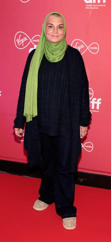 Sinead O Connor at the World Premiere of Citizens of Boomtown at the Virgin Media Dublin International Film Festival at Cineworld, Dublin. Pic: Brian McEvoy Photography.