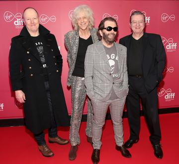 Bob Geldof and the Boomtown Rats at the World Premiere of Citizens of Boomtown at the Virgin Media Dublin International Film Festival at Cineworld, Dublin. Pic: Brian McEvoy Photography.