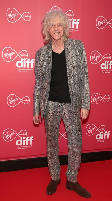 Bob Geldof at the World Premiere of Citizens of Boomtown at the Virgin Media Dublin International Film Festival at Cineworld, Dublin. Pic: Brian McEvoy Photography.