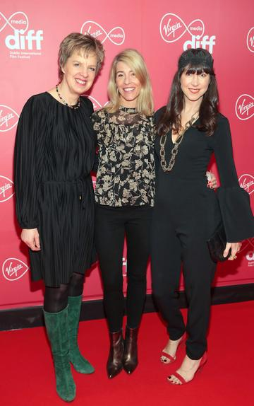 Ivanna Bacik, Avril Whelan and Jane McDaid at the World Premiere of Citizens of Boomtown at the Virgin Media Dublin International Film Festival at Cineworld, Dublin. Pic: Brian McEvoy Photography.