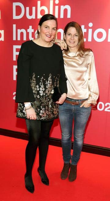 Gesa Cosby and Tanit Koch at the World Premiere of Citizens of Boomtown at the Virgin Media Dublin International Film Festival at Cineworld, Dublin. Pic: Brian McEvoy Photography.