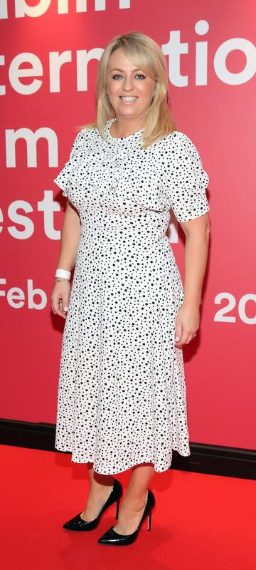 Jen Keogh-Reilly at the World Premiere of Citizens of Boomtown at the Virgin Media Dublin International Film Festival at Cineworld, Dublin. Pic: Brian McEvoy Photography.