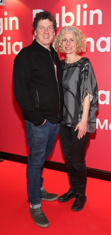 Francis Curran and Karen Hand  at the World Premiere of Citizens of Boomtown at the Virgin Media Dublin Pic: Brian McEvoy Photography.