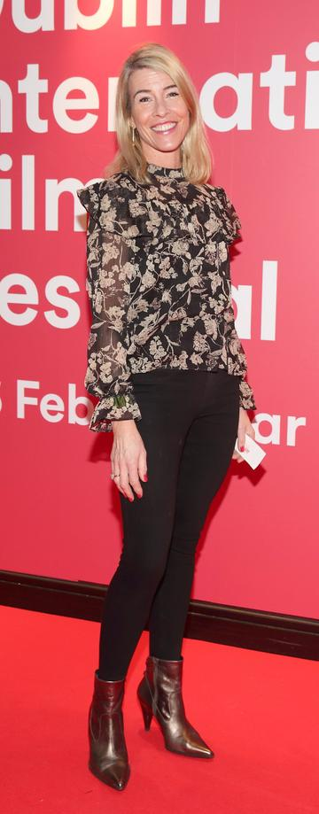 Avril Whelan at the World Premiere of Citizens of Boomtown at the Virgin Media Dublin International Film Festival at Cineworld, Dublin. Pic: Brian McEvoy Photography.