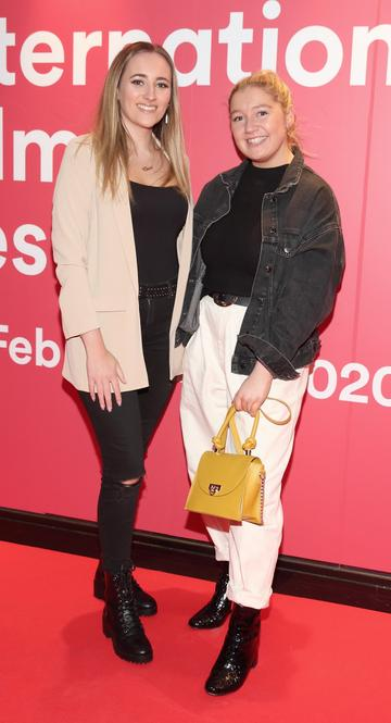 Ciara Glynn and Katie Murphy at the World Premiere of Citizens of Boomtown at the Virgin Media Dublin International Film Festival at Cineworld, Dublin. Pic: Brian McEvoy Photography.