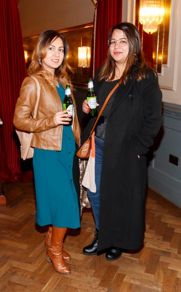 Ritika Foody and Tavishi Aggarwal at the launch of Cinema di Peroni, celebrating Italy in the movies, and the latest addition to its portfolio Peroni Libera 0.0%. Cinema di Peroni Dublin took place at The Stella Cinema in Rathmines, screening the award nominated The Talented Mr. Ripley. Picture: Andres Poveda
