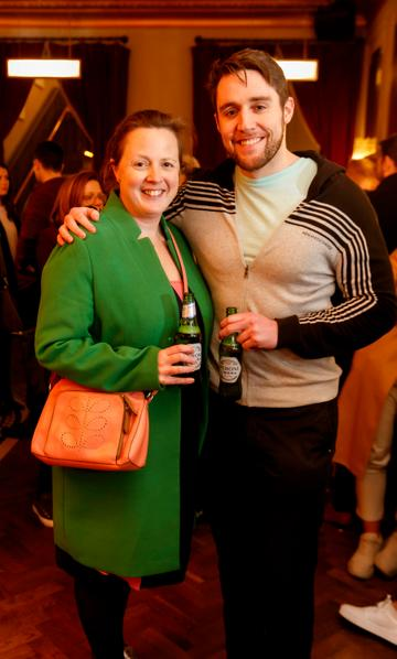 Jennifer and Phillip McIntee at the launch of Cinema di Peroni, celebrating Italy in the movies, and the latest addition to its portfolio Peroni Libera 0.0%. Cinema di Peroni Dublin took place at The Stella Cinema in Rathmines, screening the award nominated The Talented Mr. Ripley. Picture: Andres Poveda
