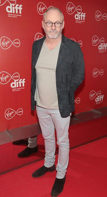 Liam Cunningham at the Virgin Media Dublin International Film Festival Irish Premiere screening  of Calm With Horses at the Lighthouse Cinema, Dublin. Picture: Brian McEvoy.