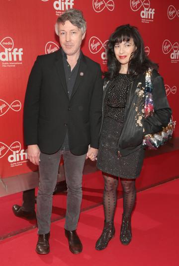 Actor Aidan Gillen and wife Camille at the Virgin Media Dublin International Film Festival Irish Premiere screening  of Calm With Horses at the Lighthouse Cinema, Dublin. Picture: Brian McEvoy.