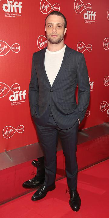 Cosmos Jarvis at the Virgin Media Dublin International Film Festival Irish Premiere screening  of Calm With Horses at the Lighthouse Cinema, Dublin. Picture: Brian McEvoy.