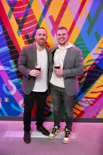 Derek Digugliemo and Clay Sutton pictured at the launch of the highly anticipated new Gravity Bar at the Guinness Storehouse. Photo by Richie Stokes.