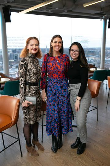 Greta Smetoniute, Aisling Healy Anna Carvalho pictured at the launch of the highly anticipated new Gravity Bar at the Guinness Storehouse. Photo by Richie Stokes.