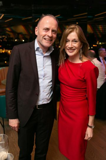 Kenneth Morgan (William Fry) and Vicky Landy (RKD)   pictured at the launch of the highly anticipated new Gravity Bar at the Guinness Storehouse. Photo by Richie Stokes.