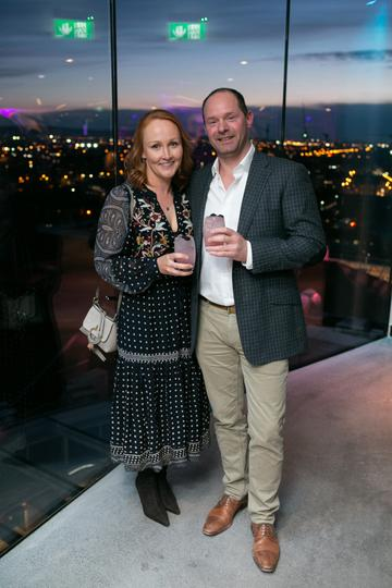 Niamh and Andrew Webb (Linen Mills Studios) pictured at the launch of the highly anticipated new Gravity Bar at the Guinness Storehouse. Photo by Richie Stokes.